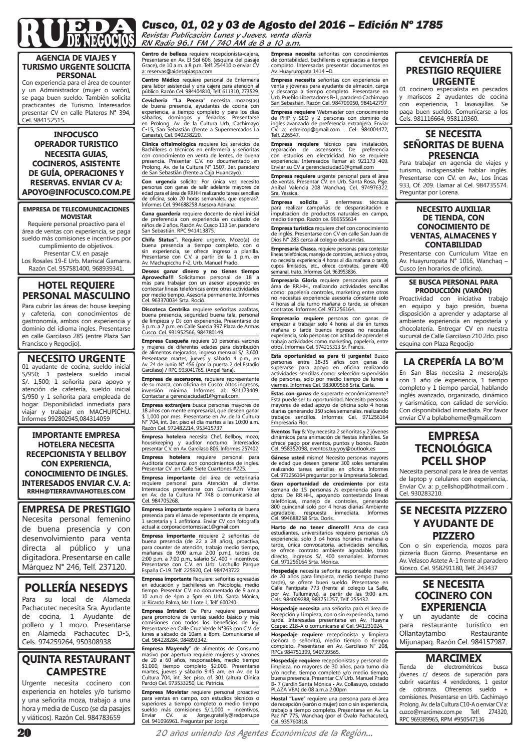 Edición 1785 by Rueda de Negocios - issuu