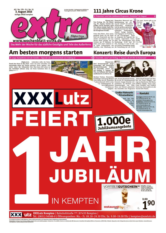 Extra Füssen Vom Mittwoch 3 August By Rtadesign Gmbh Issuu