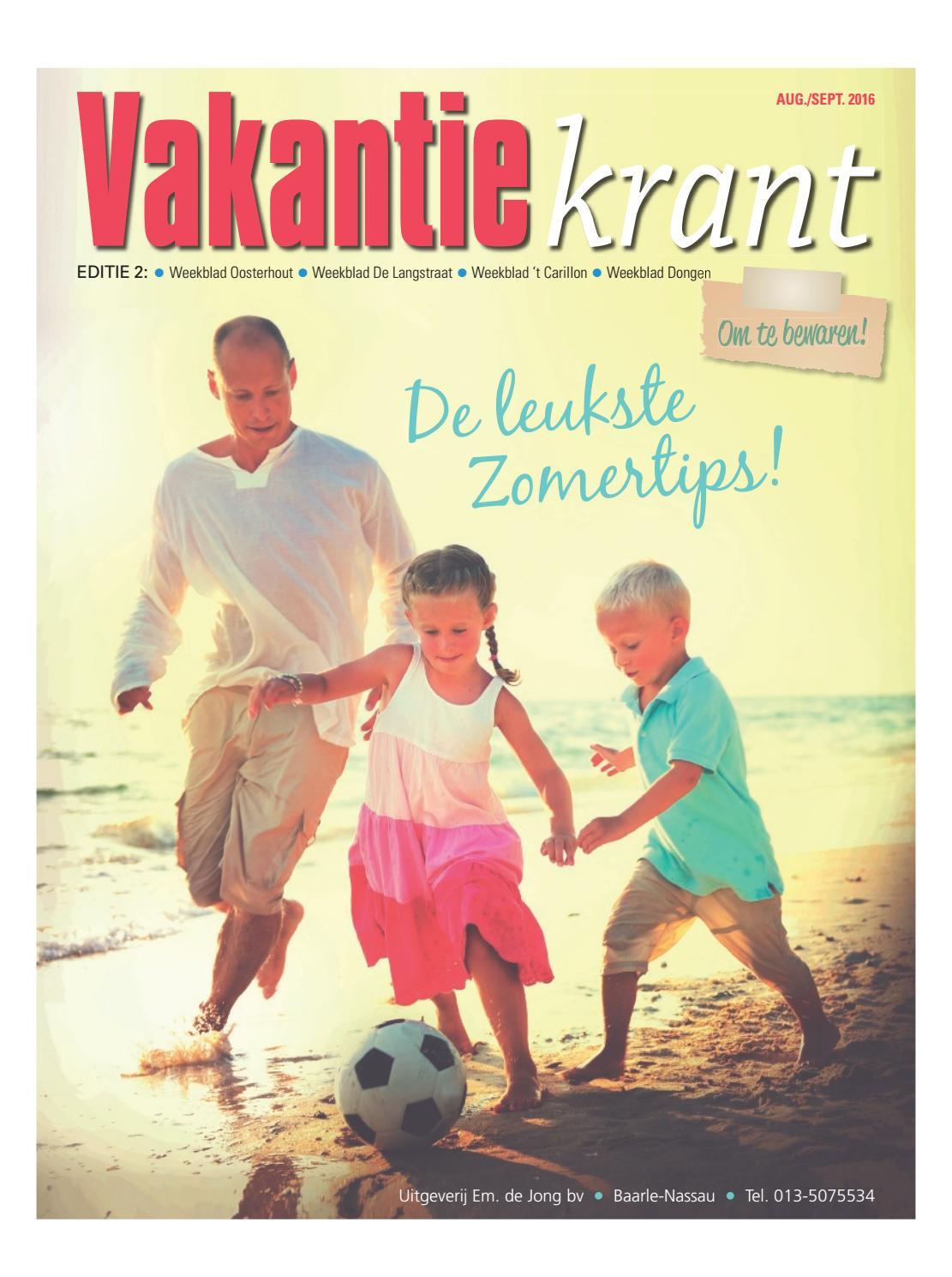 Vakantiekrant ed 2 03 08 2016 by uitgeverij em de jong for Nassau indus deur bv oosterhout