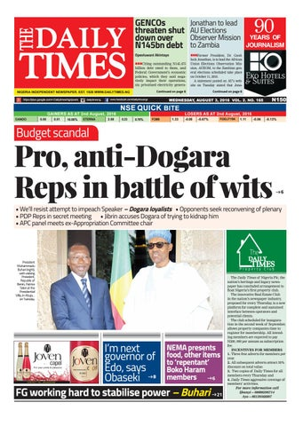 Dtn 3 8 16 By Daily Times Of Nigeria Issuu