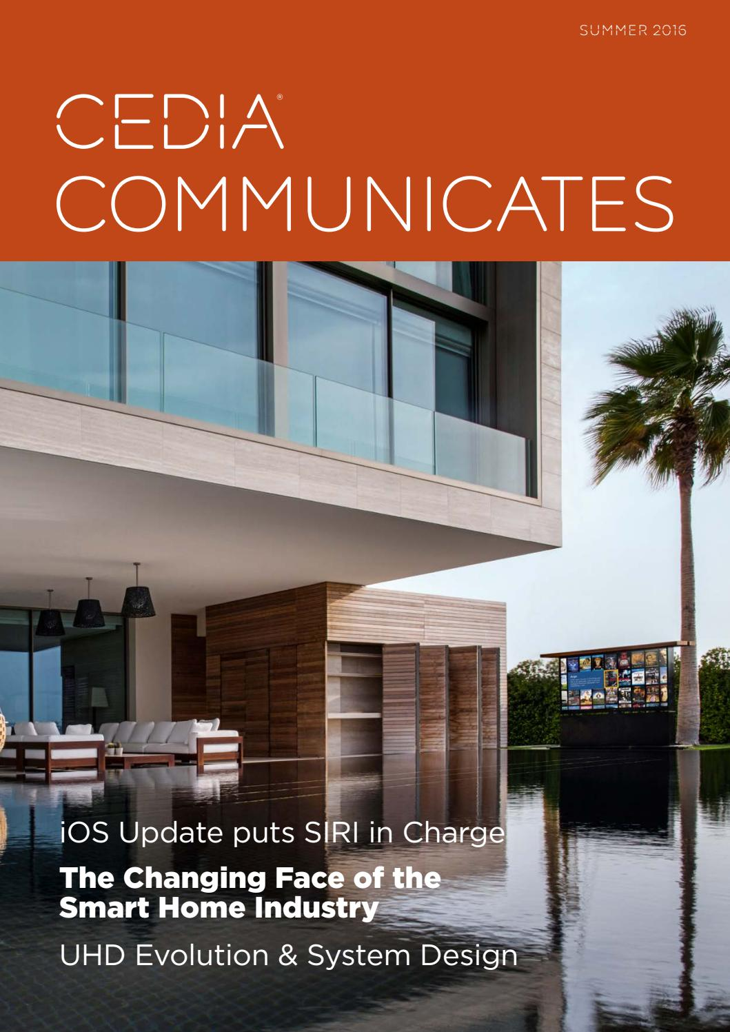CEDIA Communicates Summer 2016 by