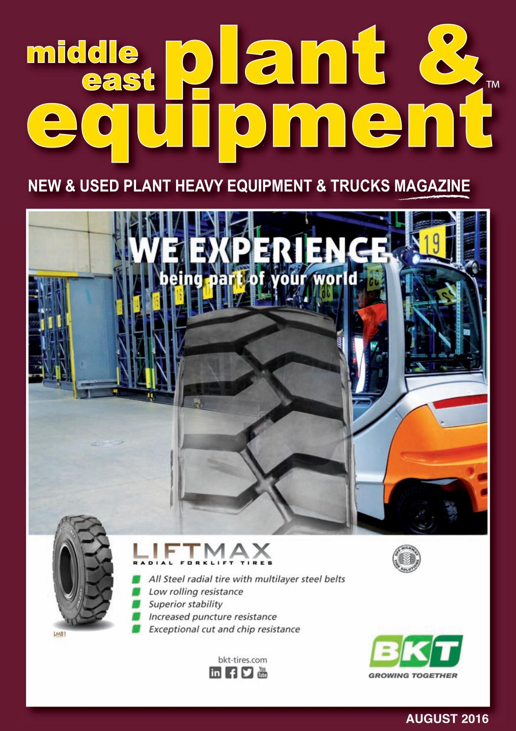 Middle East Plant & Equipment - August 2016 Edition by Middle East Plant &  Equipment - issuu