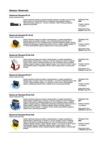 6d141eeaab1 Skartace   Skartovače Skartovač Olympia PS 14 Osobní skartovací stroj  Osobní skartovač vhodný pro domácí kancelář ○ Skartuje v proužku 6 mm až 5  listů ...