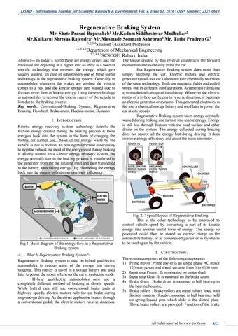 Regenerative Braking System by International Journal for Scientific