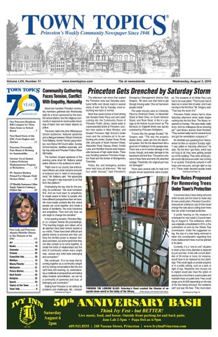 Town Topics Newspaper August 3 2016 By Witherspoon Media Group Issuu