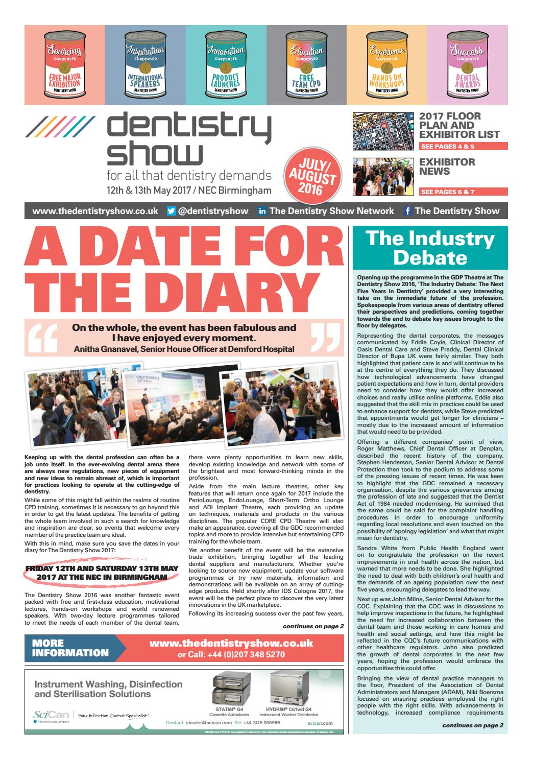 The dentistry show newspaper julyaugust 2016 by closerstill media the dentistry show newspaper julyaugust 2016 by closerstill media issuu malvernweather Choice Image
