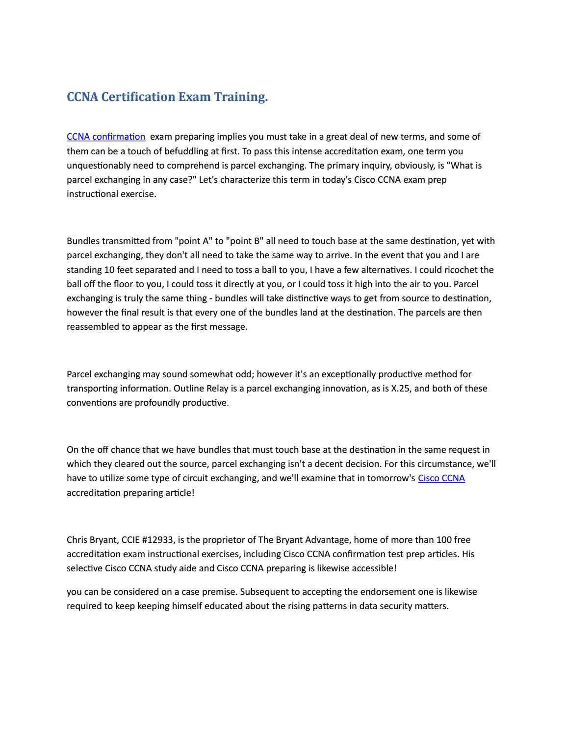 Ccna Certification Exam Training By Cert Store Issuu