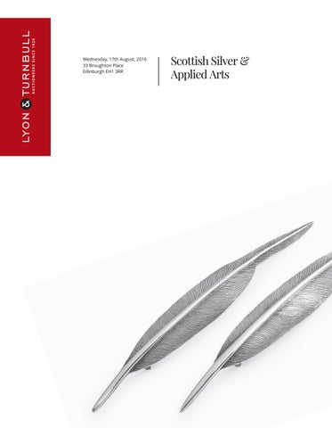 6cd3e88fe47 Scottish Silver & Applied Arts | 17th August 2016 | 11am by Lyon ...