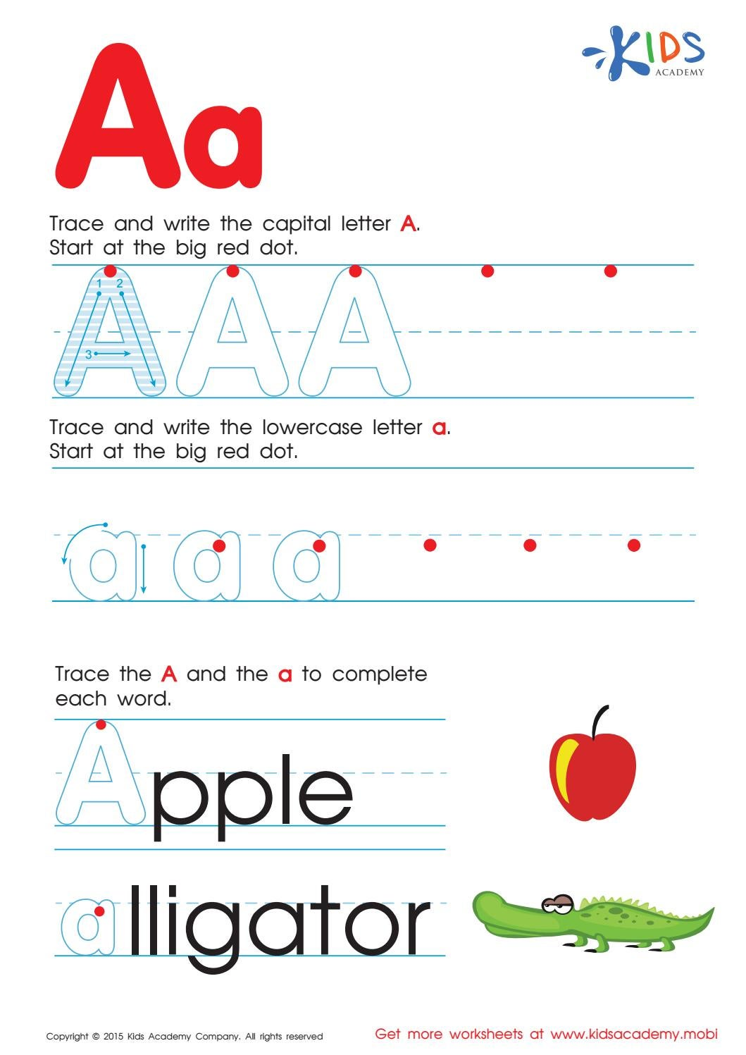 Free alphabet worksheets for kids A-Z by Kids Academy - Issuu