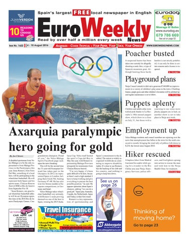 f5cecbe28b0 Euro Weekly News - Axarquia 4 - 10 August 2016 Issue 1622 by Euro ...