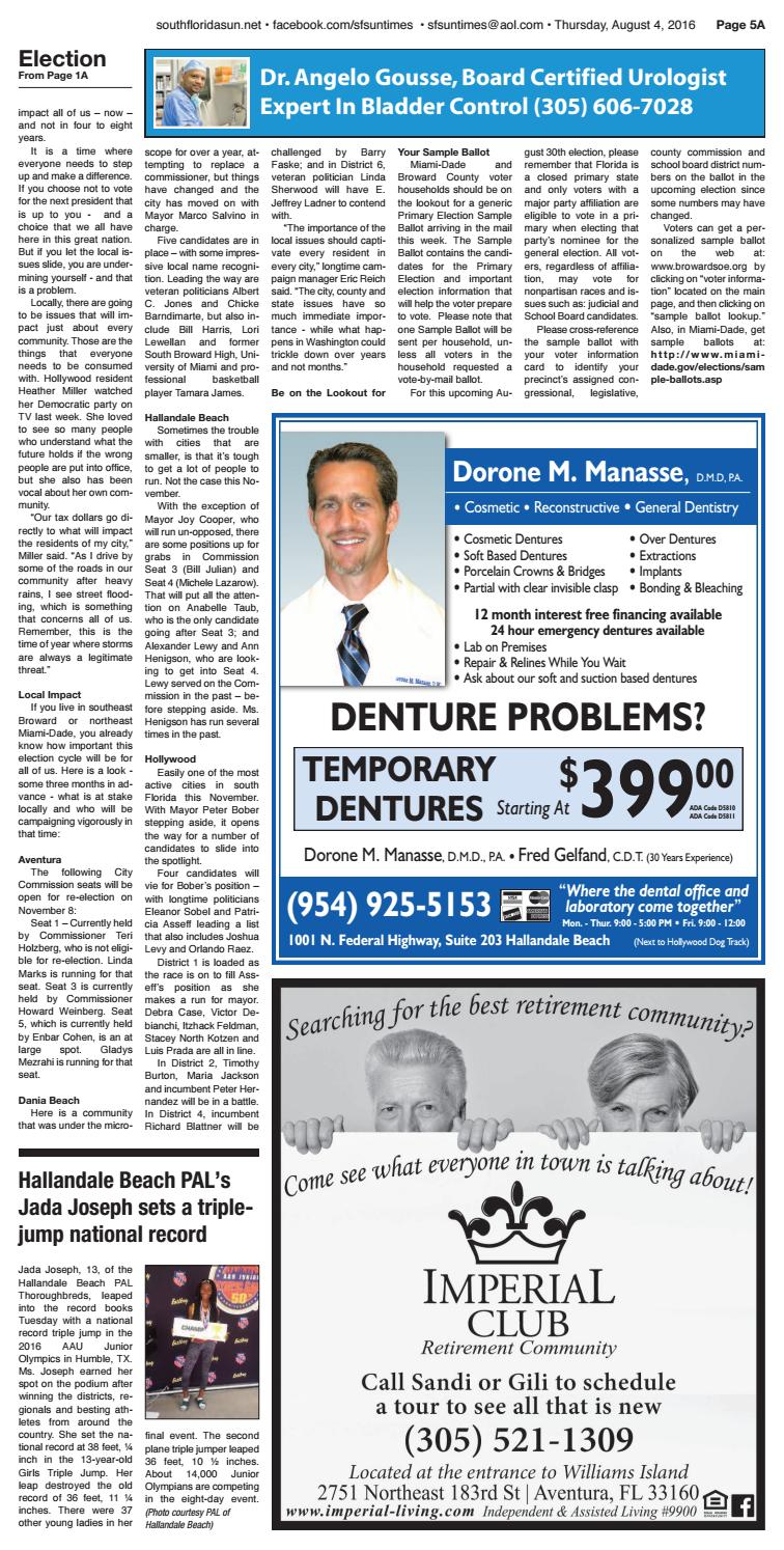 Sun Times Issue 08 04 16 by The South Florida Sun Times