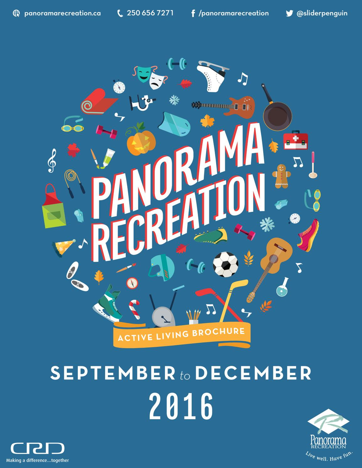 b77bc7c1e4c2 Panorama Recreation Fall 2016 Active Living Brochure by Panorama Recreation  - issuu