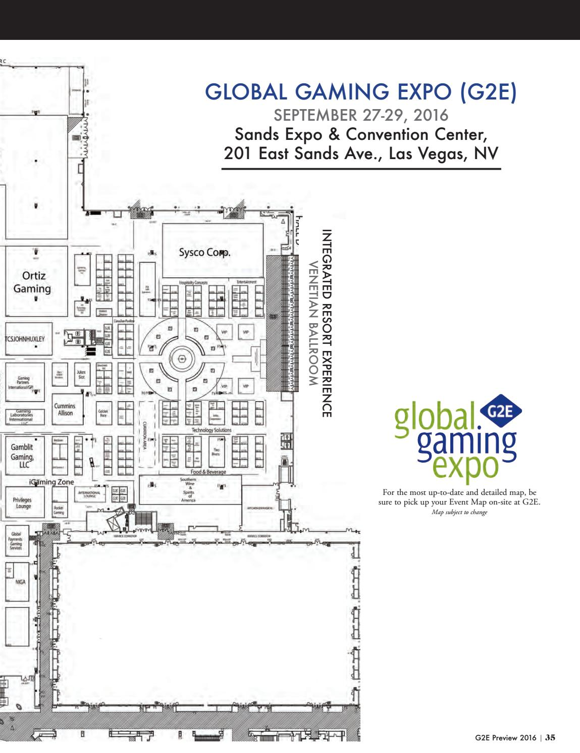G2e Preview 2016 by Global Gaming Business - issuu on sands hotel las vegas, marina bay sands map, sands expo center, sands expo floor plan, sands casino map, sands showroom las vegas,