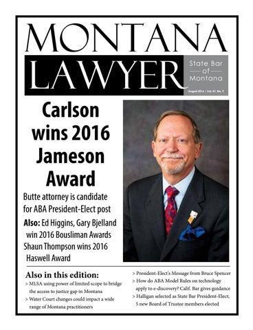Montana Lawyer State Bar of Montana