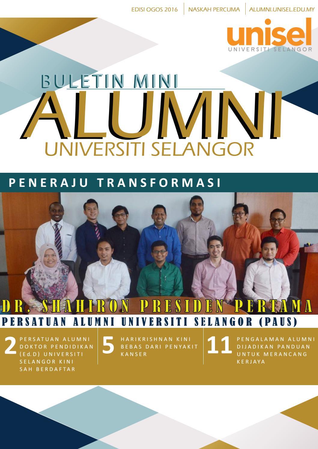 Buletin Mini Alumni Unisel By Pusat Alumni Universiti Selangor Issuu