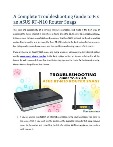 a complete troubleshooting guide to fix an asus rt n10 router snags rh issuu com asus laptop troubleshooting guide asus troubleshooting guide restore