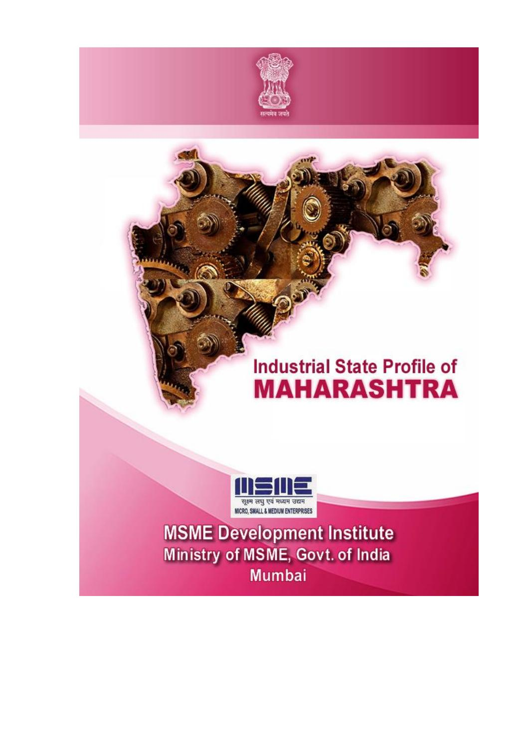 Industrial state profile 2016 17 by MSMEDI Mumbai - issuu