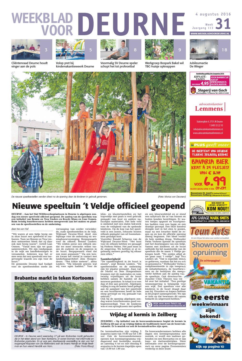 Weekblad voor Deurne wk31 by Das Publishers! - issuu