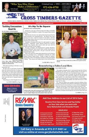 The Cross Timbers Gazette August 2016 The Cross Timbers Gazette