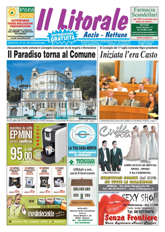 9a79aaa95 Il Litorale - Anno XVI - N. 14 - 1/31 Agosto 2016 by Il Pontino/Il Litorale  - issuu