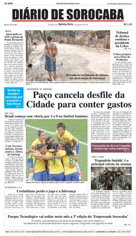 Edição de 04 de agosto de 2016 by DIÁRIO DE SOROCABA - issuu a31d1bafd6174