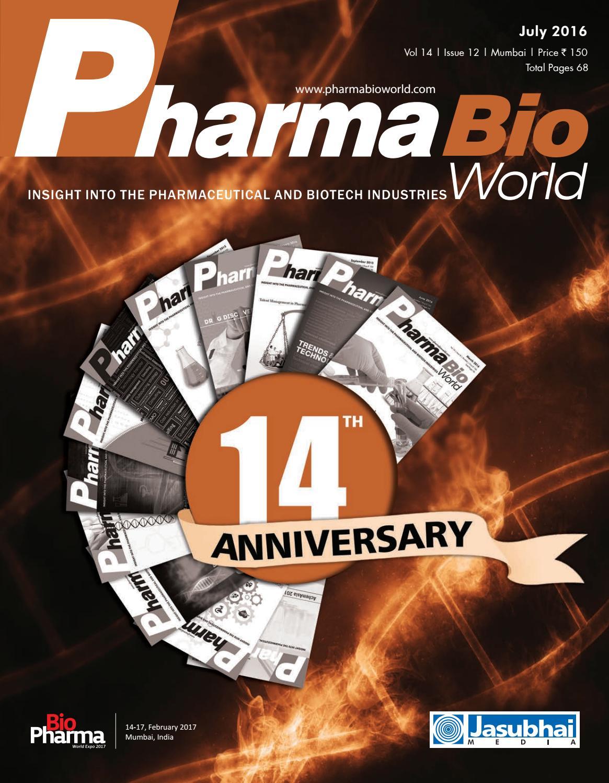 Pharma Bio World July 2016 by Pharma Bio World - issuu
