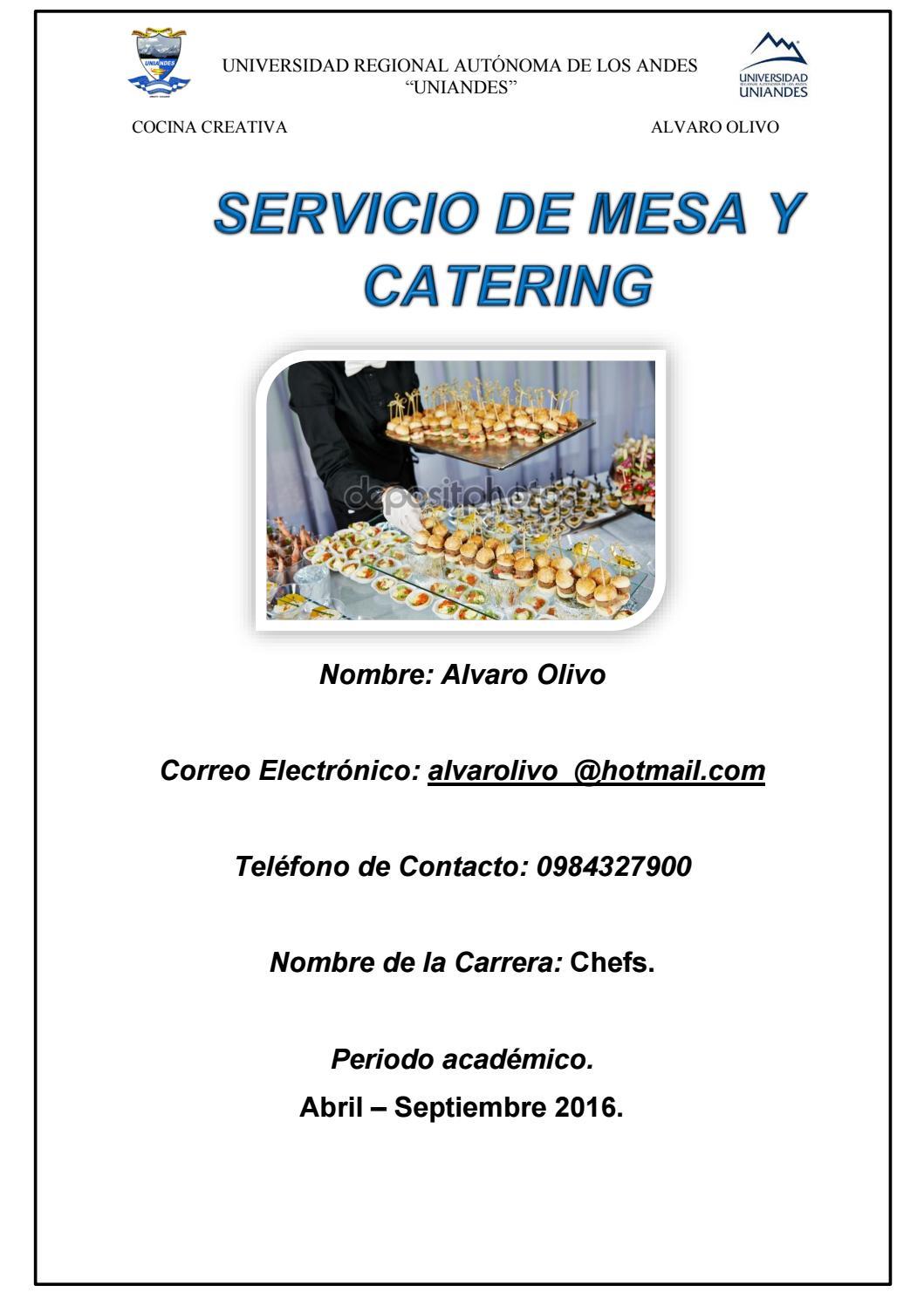 portafolio final catering by alvaro olivo