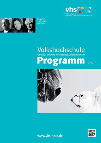 Programm Herbst/Winter 2016/17 By Vhs Im Norden Des Landkreises ...