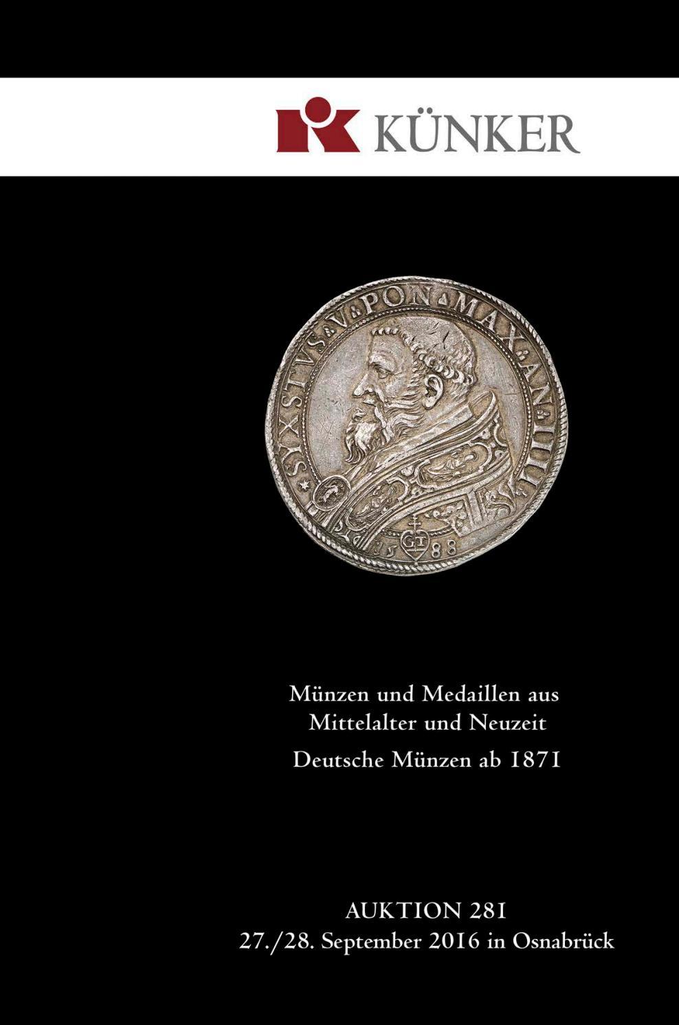 Künker Auktion 281: Münzen und Medaillen aus Mittelalter und ...