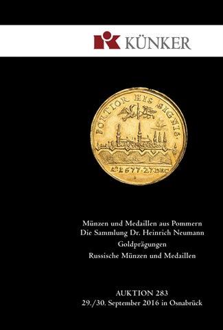 Künker Auktion 283 Münzen Medaillen Aus Pommern Goldprägungen