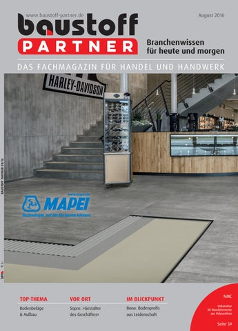Baustoff Partner August 2016 By Sbm Verlag Gmbh Issuu