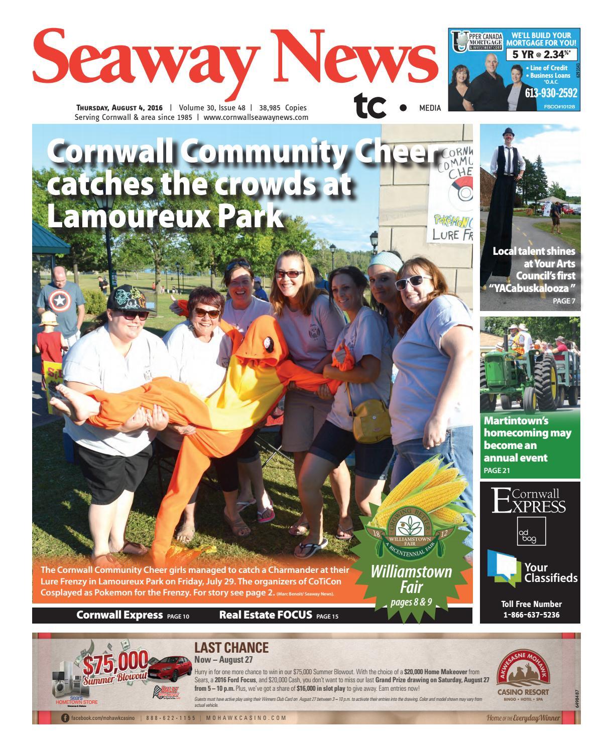 Cornwall Seaway News August 4, 2016 Edition by Cornwall Seaway News - issuu