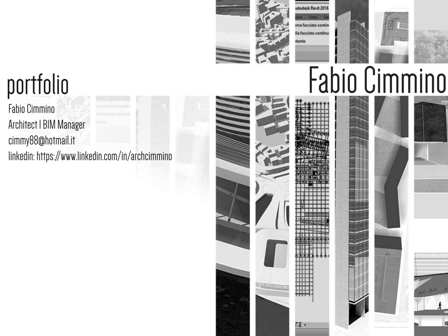 Portfolio Architect Bim Manager By Fabio Cimmino Issuu