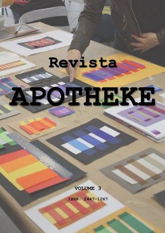 e6f179dc546 Revista APOTHEKE nº 3 Artista Professor Pesquisador by Estúdio de ...