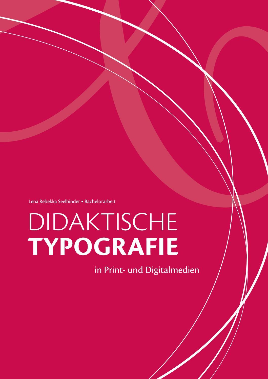 Didaktische Typografie in Print- und Digitalmedien by Lena Rebekka ...