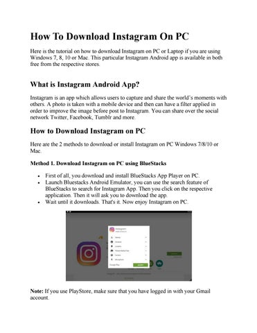 Instagram download for PC - 2 Ways Easy by windowsfreeapps
