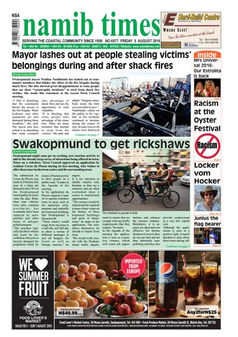 05 August Namib Times E Edition By Namib Times Virtual Issuu