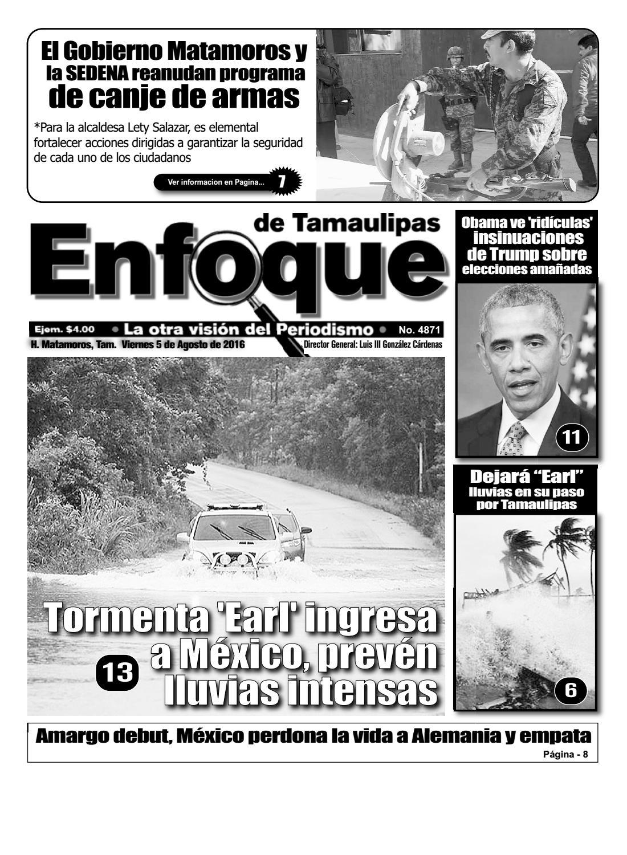 5 de agosto del 2016 by Periódico Enfoque de Tamaulipas - issuu