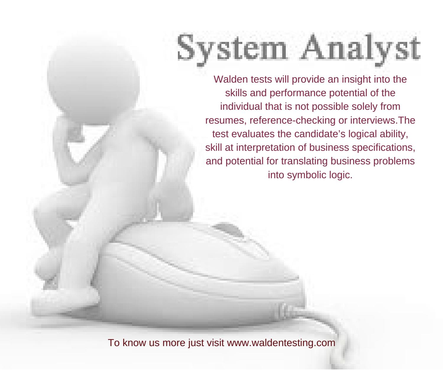 Systems analyst by waldentesting issuu biocorpaavc Image collections