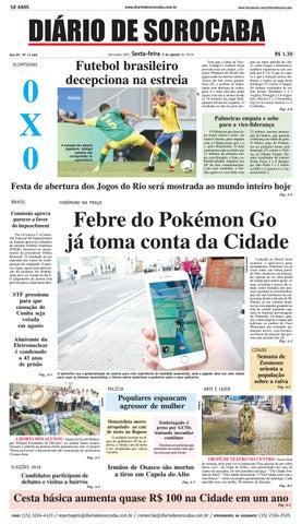 Edição de 05 de agosto de 2016 by DIÁRIO DE SOROCABA - issuu 58f677710102e