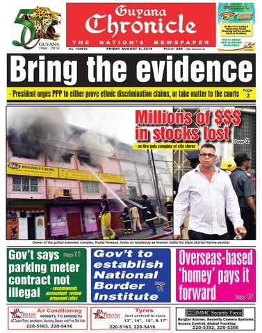 a29e6f724 Guyana Chronicle E-Paper 05 08 2016 by Guyana Chronicle E-Paper - issuu