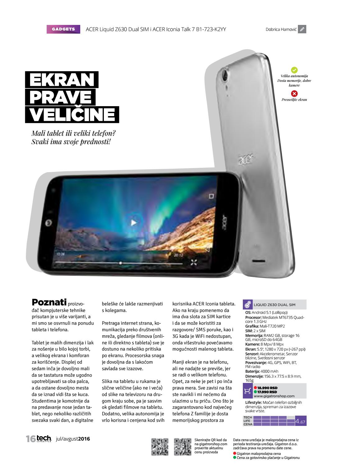 Tech Lifestyle 191 By Issuu Acer Tablet B1 723 Iconia Talk 7