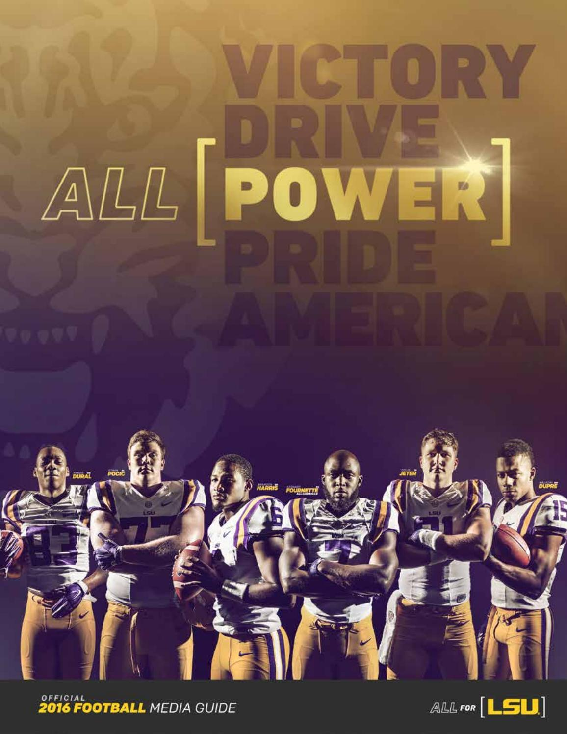 2016 LSU Football Media Guide by