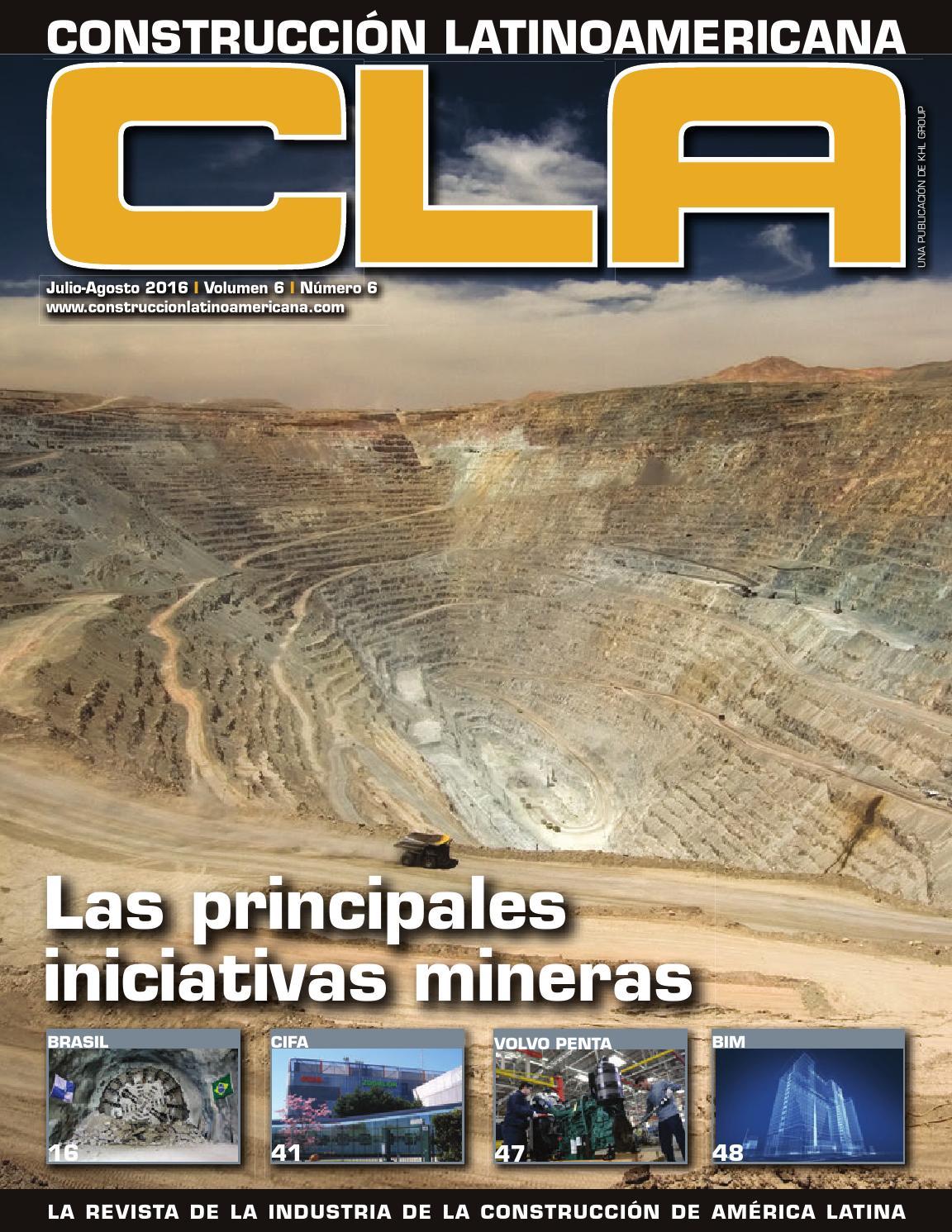 Construcción Latinoamericana Jul-Ago 2016 by Raul M. E. - issuu
