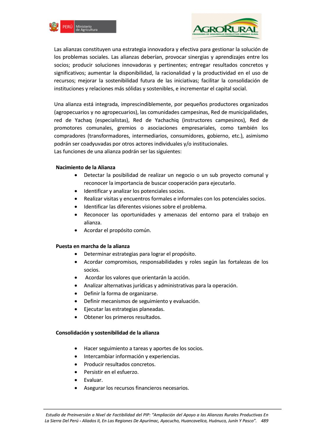 c322f6a91caf Estudio de Factibilidad Aliados II -2da Parte by AGRORURAL - issuu