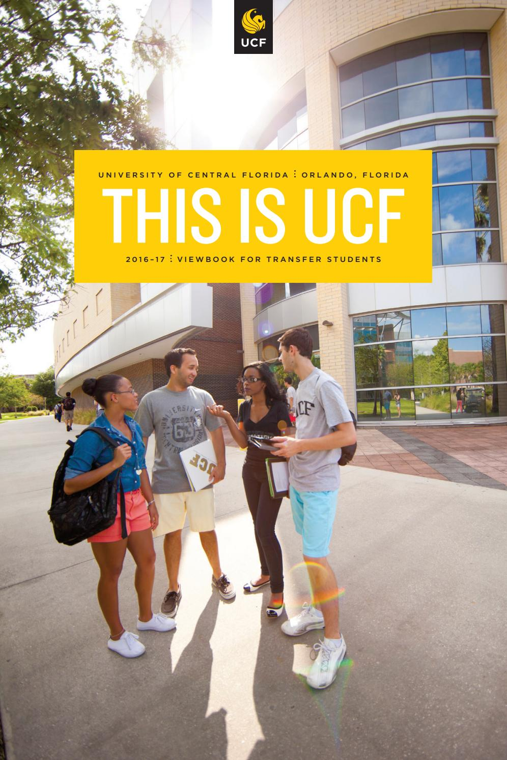 Viewbook For Transfer Students 20162017 By University Of Central Florida   Issuu