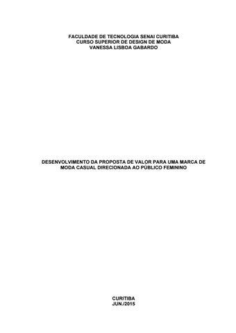 868192023 Vanessa Gabardo - Desenvolvimento da proposta de valor para uma ...