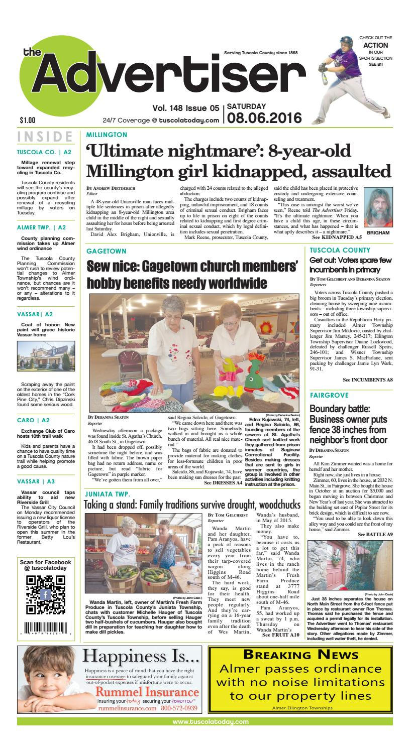 d22fe56a50fd1 Tca 8 6 16 all pages by Tuscola County Advertiser - issuu