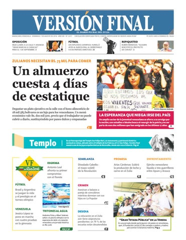 bb8866899 MARACAIBO, VENEZUELA · DOMINGO, 7 DE AGOSTO DE 2016 · AÑO VIII · Nº 2.817