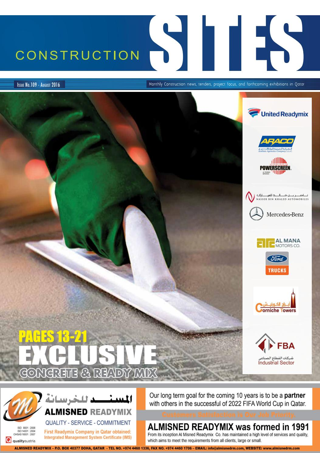 Construction Sites | August Issue no  109 by Qatar